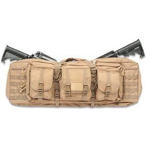 "Drago Gear 36"" Double Gun Case Tactical Soft Case 600 Denier Nylon MOLLE Panels Tan"