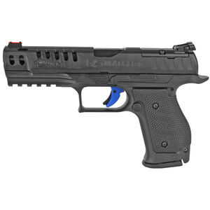 """Walther PPQ Q5 Match 9mm Luger Semi Auto Pistol 5"""" Barrel 15 Rounds Optic Ready Steel Frame Black"""