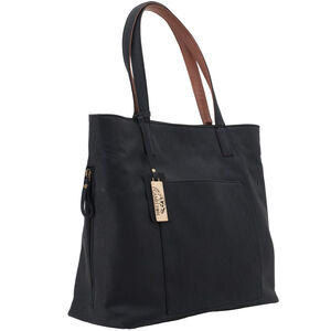 """Cameleon Rhea Handbag with Concealed Carry Gun Compartment 14""""x13""""x5"""" Synthetic Leather Black"""