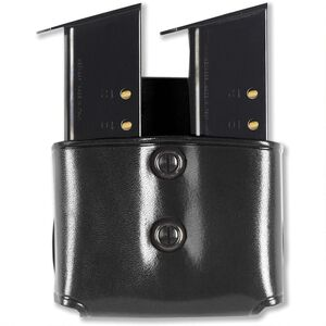 Double Mag Paddle Pouch .45 Single Stack Polymer & .45/10mm Staggered Leather Black
