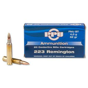 Prvi Partizan .223 Remington Ammunition 20 Rounds FMJBT 62 Grains PP5.5