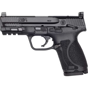 "S&W M&P9 M2.0 Compact Optics Ready Thumb Safety 9mm Luger Semi Auto Pistol 4"" Barrel 15 Rounds Black"