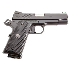 "Wilson Combat ACP Commander 9mm Luger Semi Auto Pistol 4.25"" Barrel 10 Rounds G10 Eagle Claw Grip Carbon Steel Armor-Tuff Black Finish"
