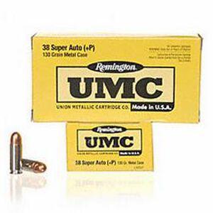 Remington UMC .38 Super+P 130 Grain FMJ 50 Round Box