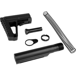 Trinity Force AR-15 Defender L2 Stock Kit Mil-Spec Receiver Extension Assembly Adjustable Stock Black