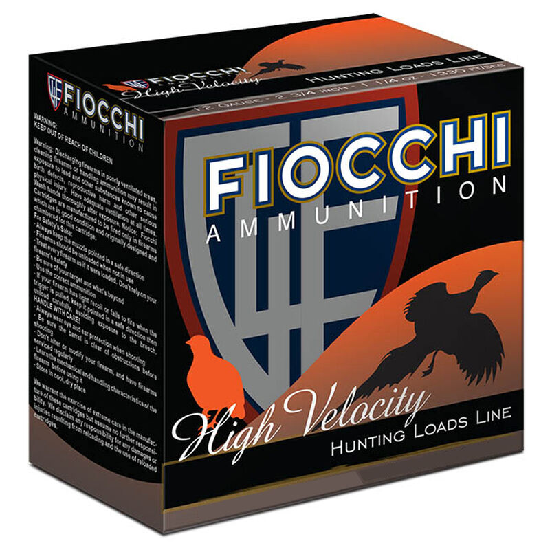 """Fiocchi High Velocity 12 Gauge Ammunition 3"""" #6 1-3/4oz Lead Shot 1330fps"""