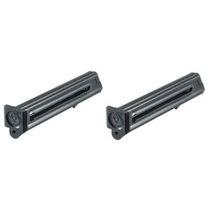 Ruger Mark III/Mark IV Factory OEM 10 Round Magazine .22 Long Rifle Steel Body Polymer Base Plate 2 Pack