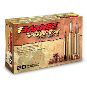 Barnes VOR-TX .30-06 Springfield Ammunition 20 Rounds 168 Grain Lead Free TTSX Boat Tail Bullet 2800 fps