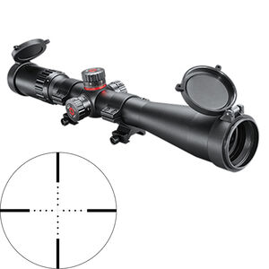 Simmons ProTarget 4-16x40 Riflescope Non-Illuminated Mil-Dot Reticle 30mm Tube Exposed Turrets .1 Mil Adjustments Second Focal Plane Side Parallax Adjustment Matte Black Finish
