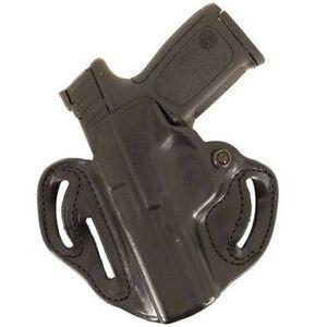 DeSantis Speed Scabbard GLOCK Holster, Left-Handed Belt Carry, Black Leather