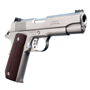 "Ed Brown Kobra Carry 1911 Semi Auto Pistol .45 ACP 4.25"" Barrel 7 Rounds Fiber Optic Front Sight/Fixed Rear Sight Stainless Steel Frame/Slide Matte Stainless Finish"