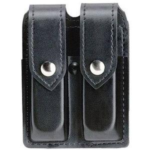 Safariland Model 77 Double Handgun Magazine Pouch GLOCK 19/23 Magazines Plain Finish Snap Closure Black 77-283-2