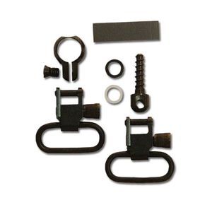 "GrovTec One Piece Barrel Band Set Winchester/Marlin Lever Action or .645-.660"" Tube Diameter Full Band 1"" Sling Swivel Steel Black"