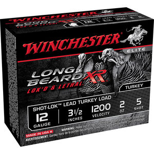"Winchester Long Beard 12 Gauge Ammunition 10 Rounds, Long Beard, 3.5"", Plated #5"