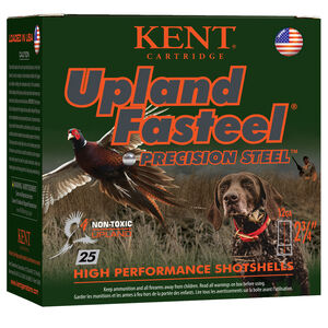 "Kent Cartridge Upland Fasteel 12 Gauge Ammunition 2-3/4"" Shell #7 Precision Steel Shot 1 oz 1450 fps"