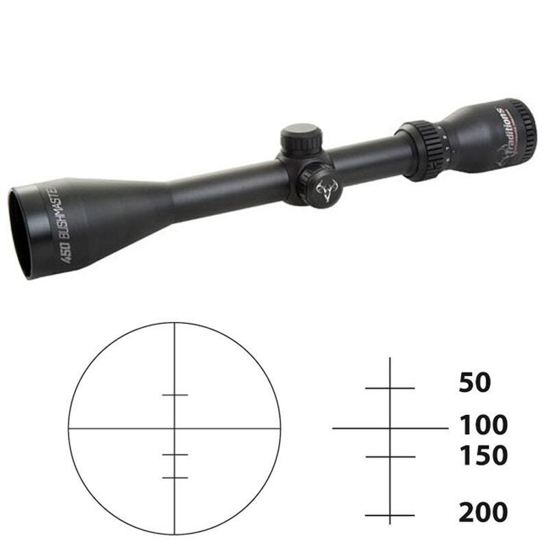 Traditions Rifle Hunter Series 3-9x40 Riflescope Range-Finding Reticle .25 MOA Adjustment Fixed Parallax Matte Finish