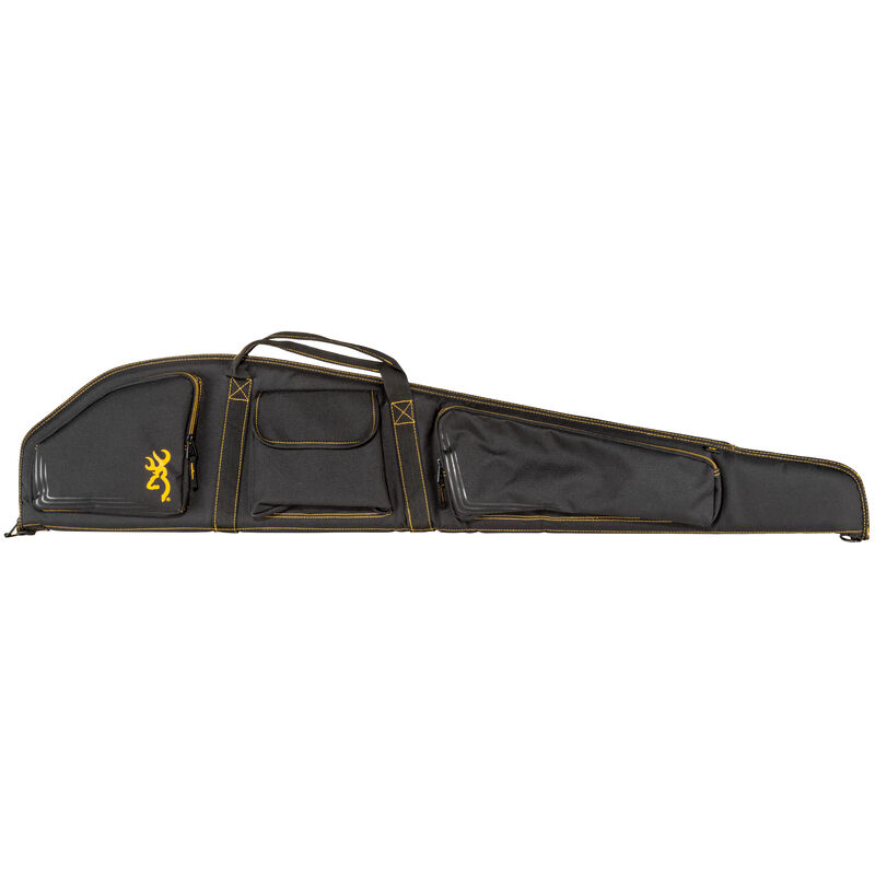 """Browning Flexible Rifle Case 50"""" Three Side Pocket Black and Gold"""