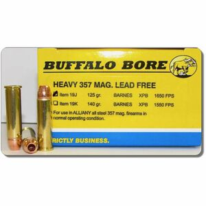 Buffalo Bore Heavy .357 Magnum Ammunition 20 Rounds Barnes XPB 125 Grains 19J/20