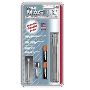 MagLite Mini MagLite AAA 2-Cell Incandescent Flashlight Gray