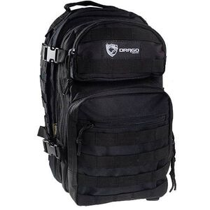 """DRAGO Gear Scout Backpack 16""""x10""""x10"""" 600D Polyester Black 14-305BL"""