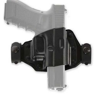 Galco Quick Slide Belt Holster Fits GLOCK 43/43X/48 OWB Right Hand Leather and Kydex Black