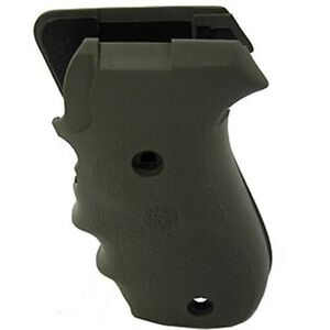 Hogue Grip SIG Sauer P220 American Finger Grooves Overmolded Rubber OD Green 20001