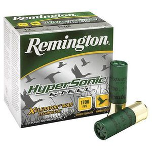 "Remington HyperSonic Steel 12 Gauge Ammunition 25 Rounds 3.50"" #4 Steel 1.375 Ounce 26799"