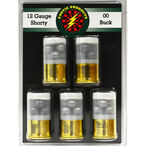 """Exotic Shorty 12 Gauge Mini Ammunition 5 Rounds 1.75"""" #00 Lead Buck 8 Pellets 00510"""