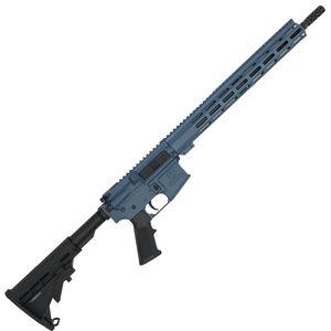 "GLFA .223 Wylde Rifle .223 Wylde Semi-Auto Rifle 16"" Barrel 30 Rounds Flat Top Optics Ready Synthetic Black Stock Tungsten Blue Finish"