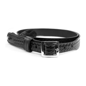 Gould and Goorich B99 Shoulder Strap Size 40 Chrome Buckle Leather Plain Black B99-40