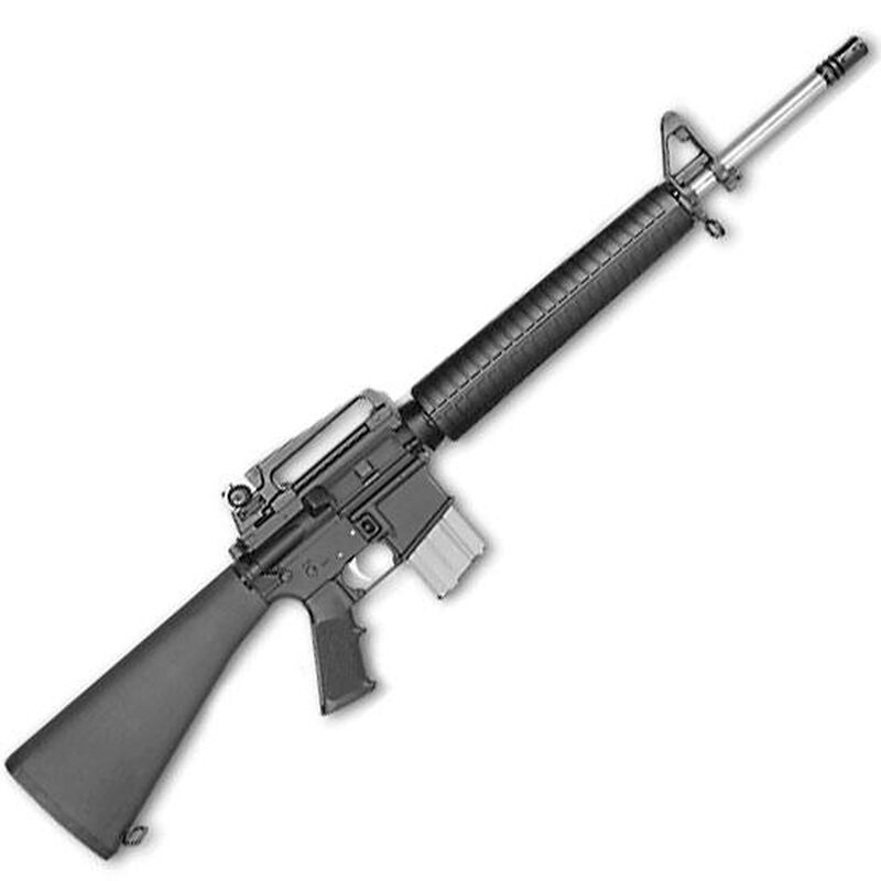 """Rock River Arms LAR-15 NM A4 Semi Auto Rifle .223 Rem/5.56 NATO 20"""" Stainless Barrel 1:8 Twist Mid-Length 20 Rounds National Match Carry Handle Black AR1286"""