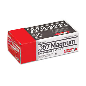 Aguila .357 Magnum Ammunition 50 Rounds 158 Grain Semi-Jacketed Soft Point 1545fps