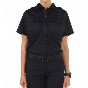 5.11 Tactical Twill PDU Short Sleeve B Class Women's Shirt XL Tall Polyester/Cotton Twill Midnight Navy
