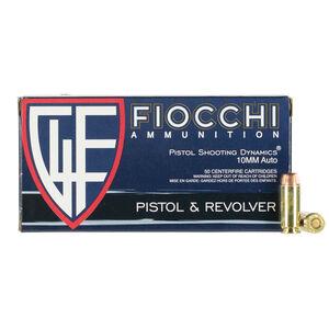 Fiocchi 10mm Auto Ammunition 50 Rounds FMJ-TC 180 Grains