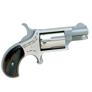 "North American Arms Mini Revolver Single Action Rimfire .22 LR 1.13"" Barrel 5 Rounds Stainless Steel Red & Black Wood Grips NAA-22LRR"