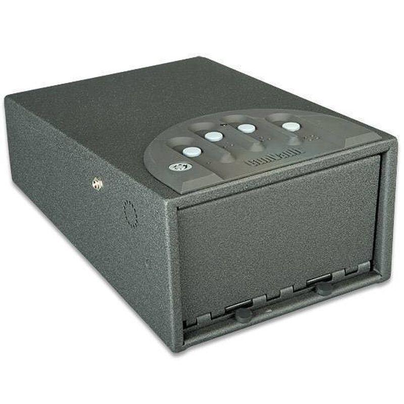 """GunVault Mini Deluxe Combination Handgun Safe 12""""x8""""x5"""", 16 Gauge Steel,  AC or DC, Black"""