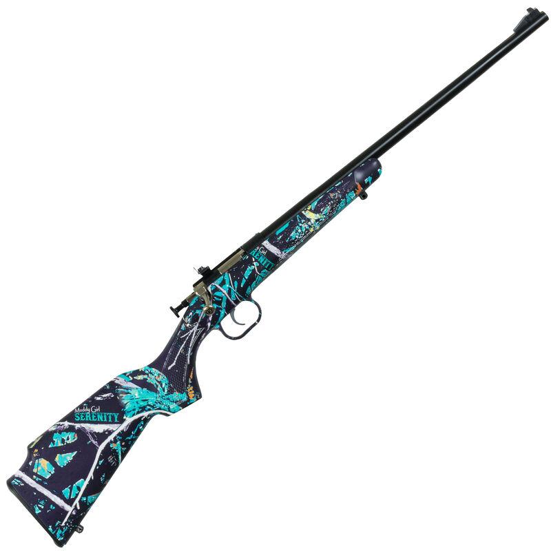 "Keystone Arms Crickett Single Shot Bolt Action Rimfire Rifle .22 Long Rifle 16.125"" Barrel Blued Metal Finish Synthetic Stock Muddy Girl Serenity Finish"