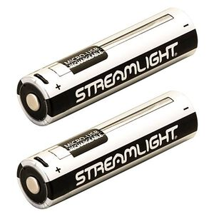 Streamlight Rechargeable USB Battery 3.7 Volt/2600mAh Lithium Ion Micro-USB Cable Compatible 2 Pack