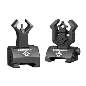 Diamondhead AR-15 Flip Up Sights Gas Block Height Aluminum Black 1599
