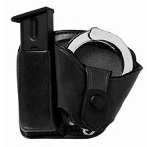 Bianchi Paddle Magazine/Handcuff Holster Combo Model 45Mag/Cuff Paddle Pouch Black 19892