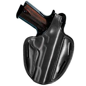 Bianchi #7 Shadow II S&W 4006 TSW, 5906 Pancake Holster Right Hand Leather Plain Black 18280