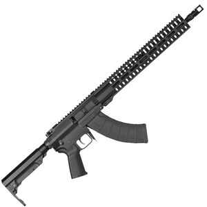 "CMMG Resolute 200 Series Mk47 7.62x39 AR Style Semi Auto Rifle 16"" Barrel 30 Rounds CMMG RML15 M-LOK Hand Guard MOE Pistol Grip/RipStock Matte Black Finish"