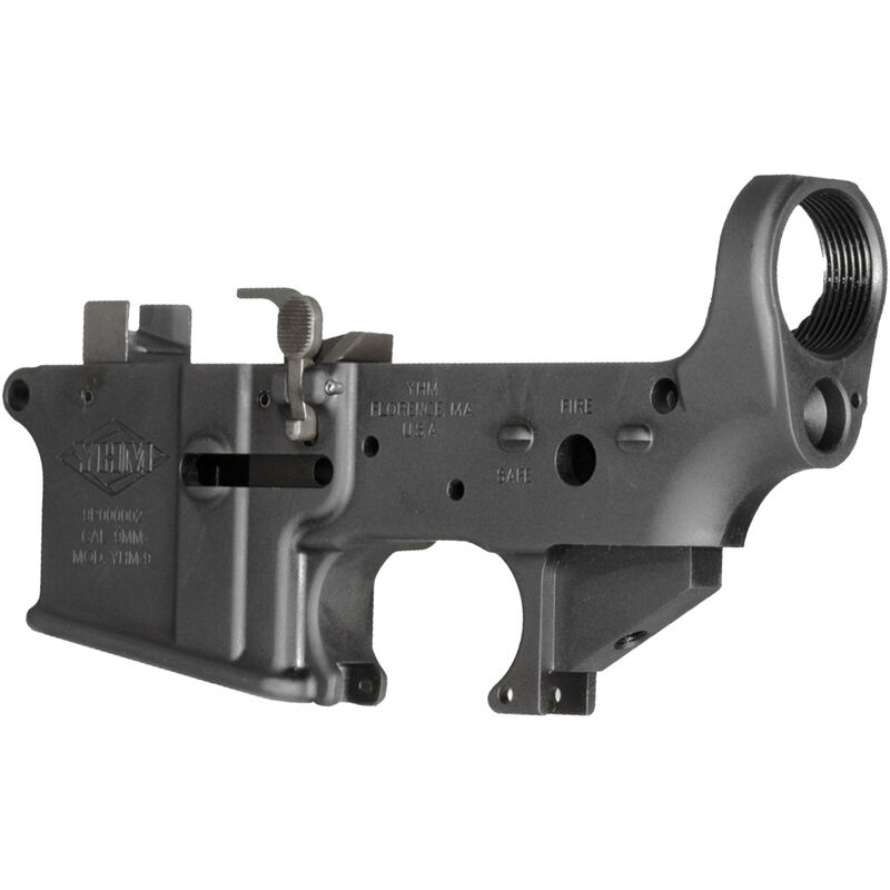 YHM AR-15 9mm Lower Receiver Assembly Aluminum Black