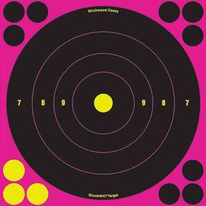 "Birchwood Casey Shoot-N-C Target 8"" Pink Bullseye 6 Pack 34808"