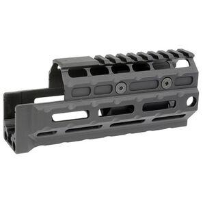 Midwest Industries AK-47/AK-74 Yugo M70 Gen 2 Standard Length Hand Guard Railed Top Cover M-LOK Compatible 6061 Aluminum Hard Coat Anodized Matte Black