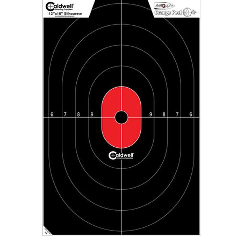 "Caldwell Shooting Supplies Flake Off Center Mass  Silhouette Paper Target Black and Red 12""x18"" 8 Pack 412-803"