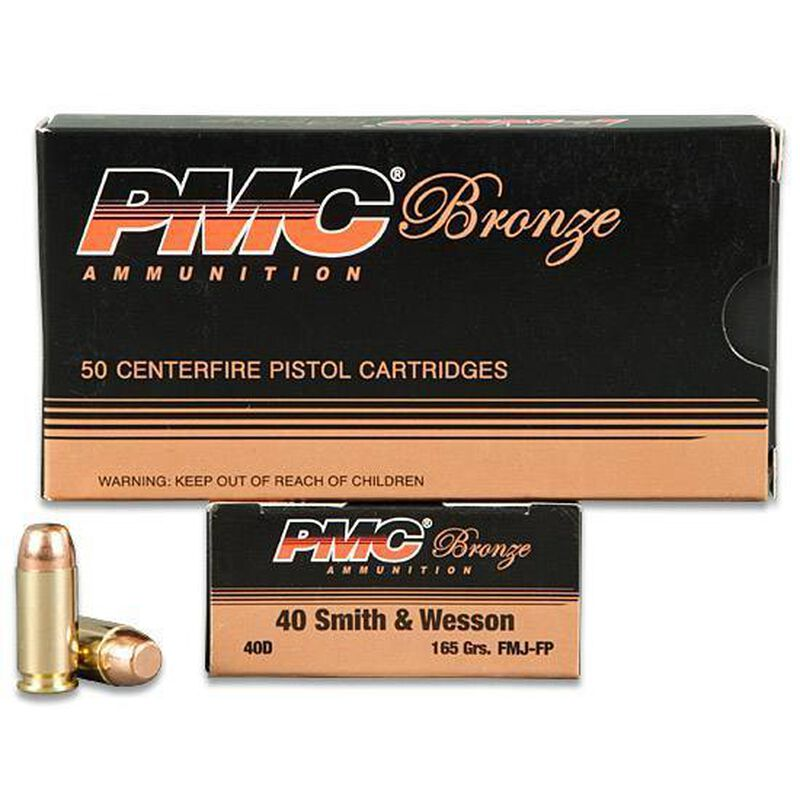 PMC .40 S&W Ammunition 50 Rounds FMJ 165 Grains 40D