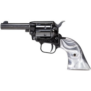 """Heritage Manufacturing Barkeep .22 LR Single Action Revolver 3.6"""" Barrel 6 Rounds Fixed Sights Alloy Frame Gray Pearl Grips Black Finish"""