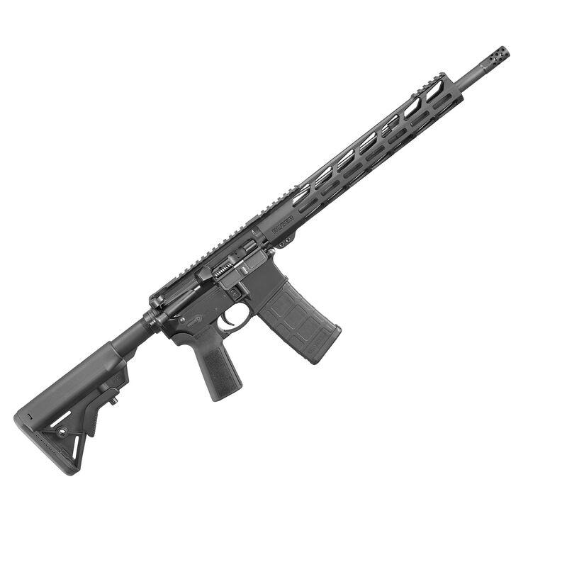"Ruger AR-556 AR-15 Semi Auto Rifle 5.56 NATO 16"" Barrel 30 Rounds 13.5"" M-LOK Hand Guard 2-Stage Ruger Trigger B5 Stock/Pistol Grip Matte Black"