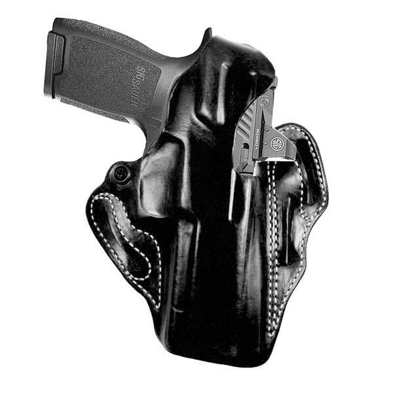 DeSantis Thumb Break Scabbard Belt Holster Right Hand Fits SIG P320 RX Full Size Leather Black